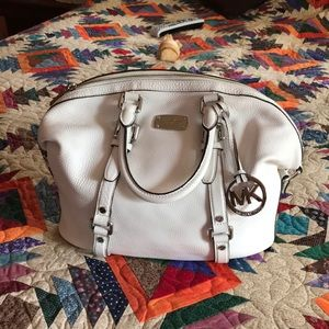 Pebble leather Michael Kors satchel